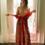 Red Dress Topless
